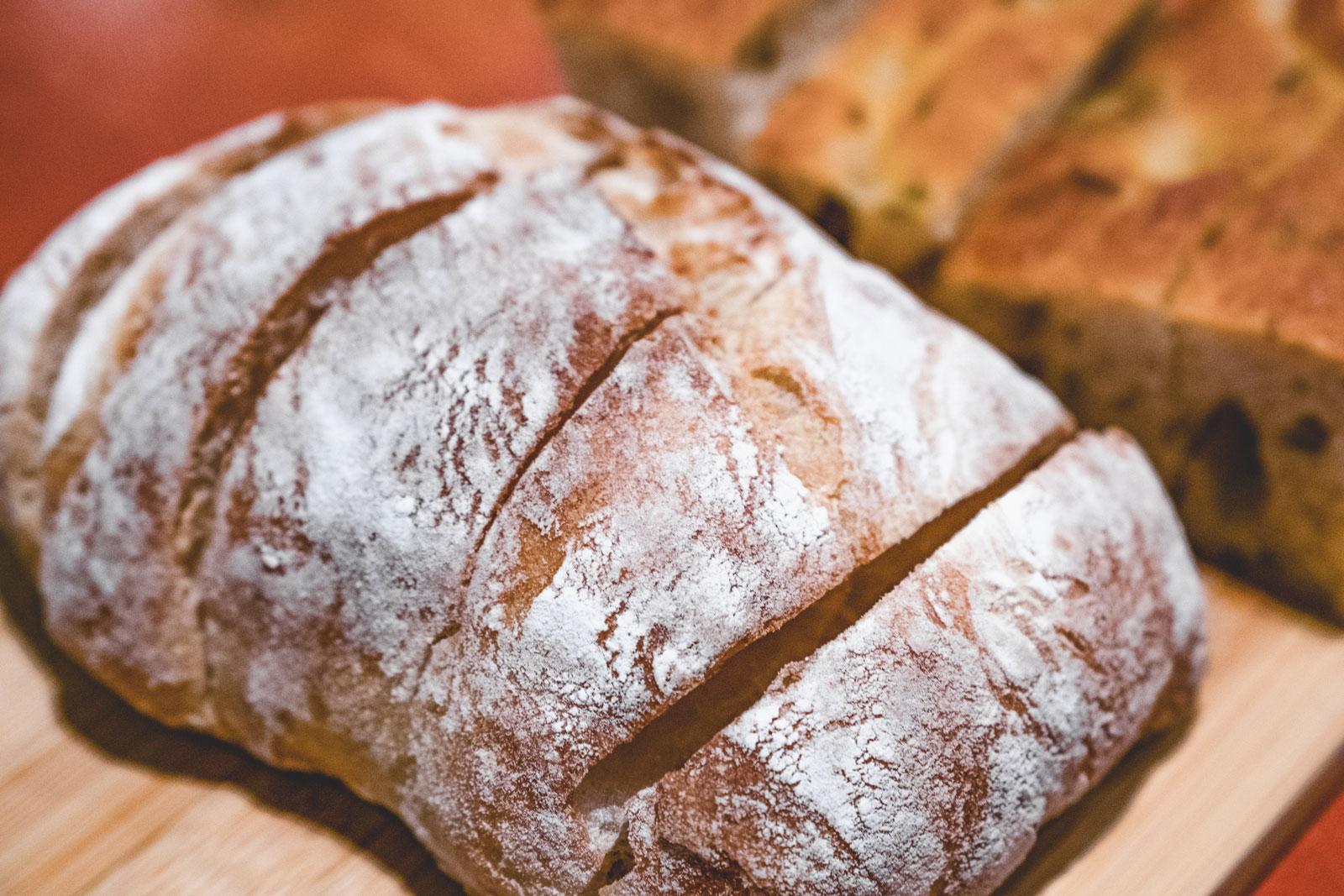 A fresh loaf of Irish soda bread.
