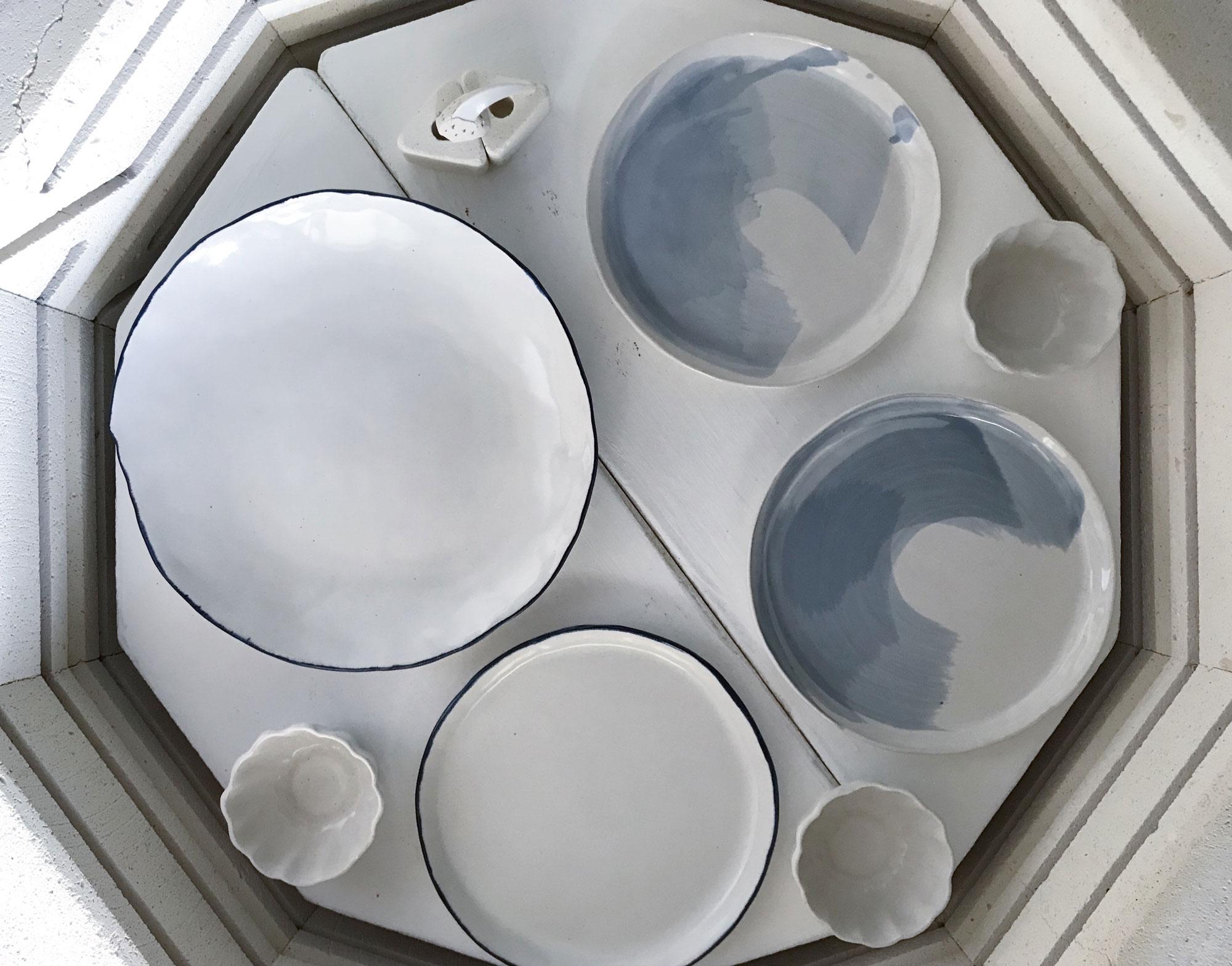 Ceramic dishes by Lee Ee Vee.
