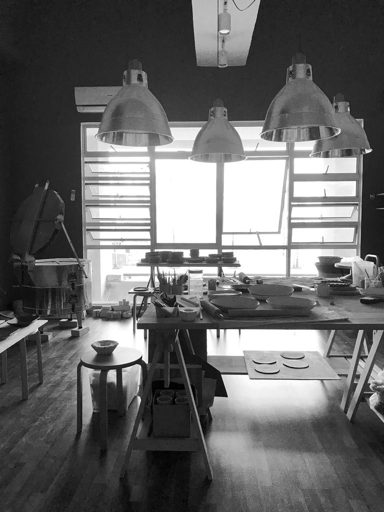 The workspace of Malaysian ceramicist Lee Ee Vee.