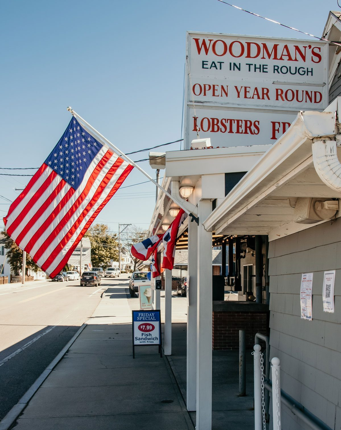 The front entry of Woodman's Clam Strip.