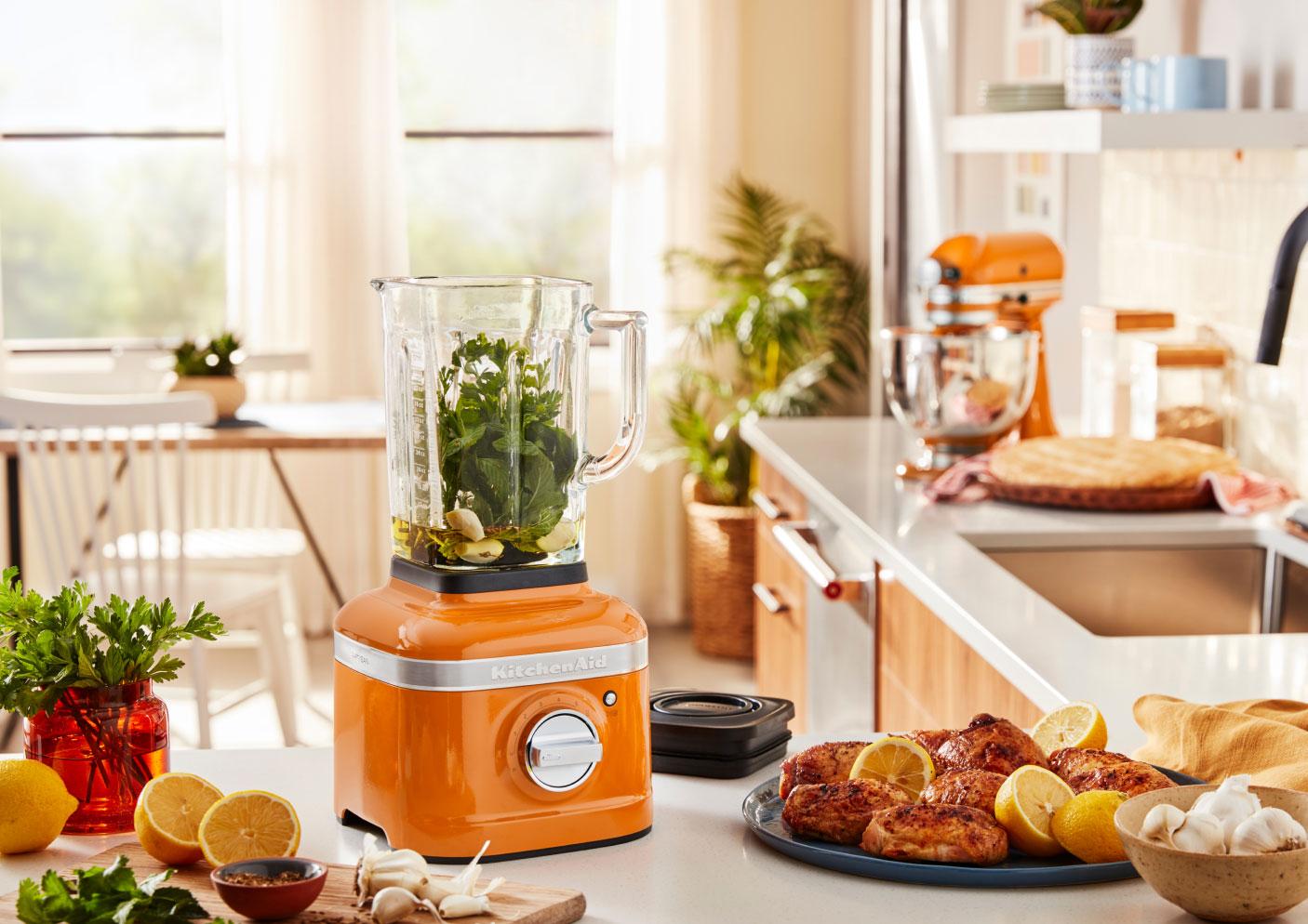 A KitchenAid® Blender in Honey.