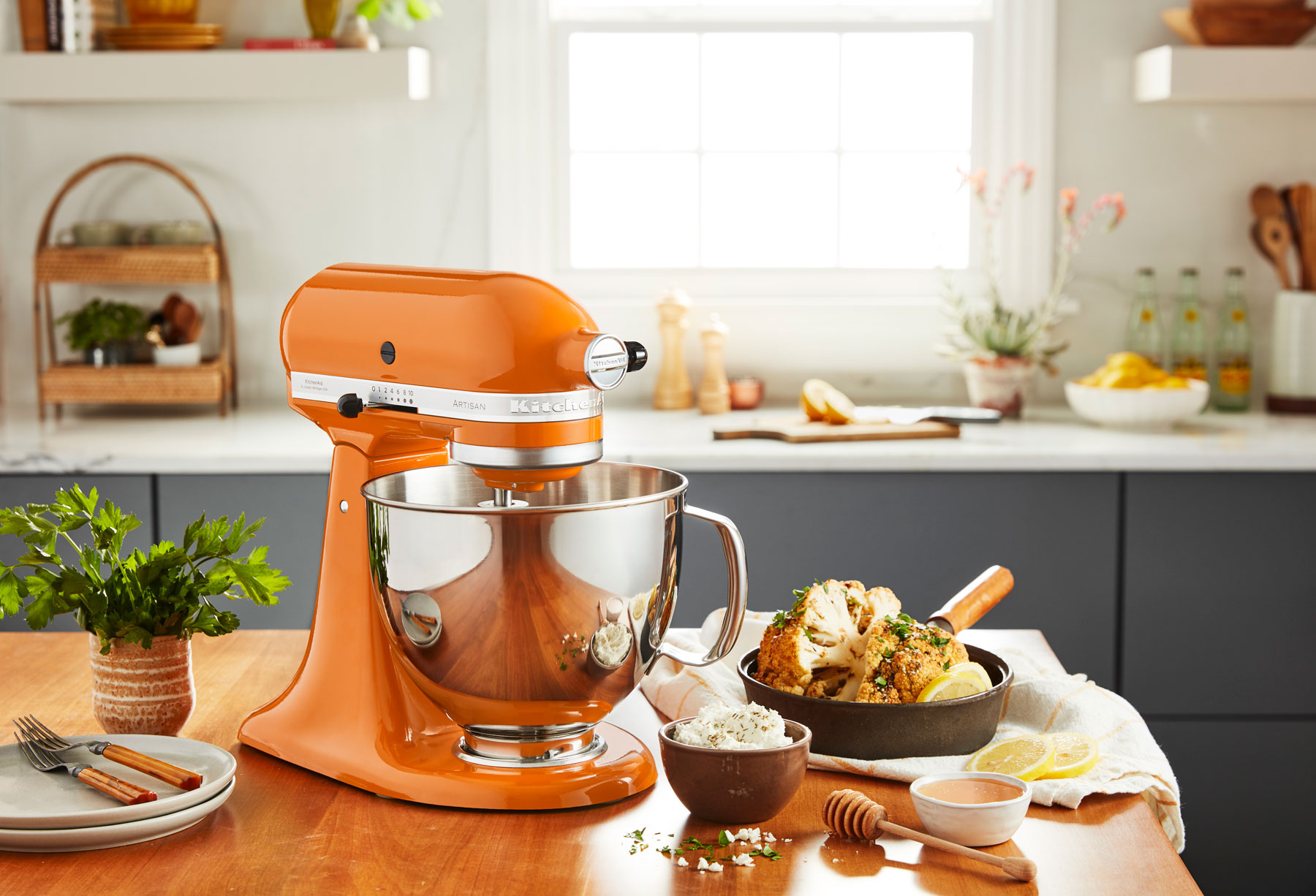 A Stand Mixer in Honey.