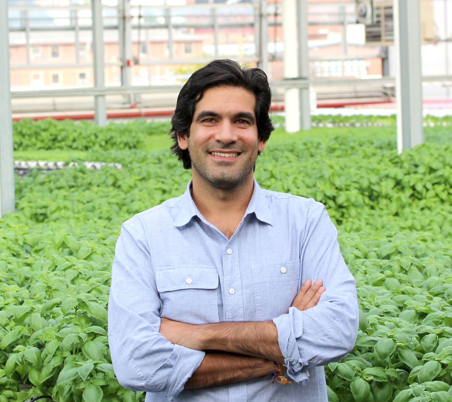 Viraj Puri, the co-founder of Gotham Greens, posing for a picture.