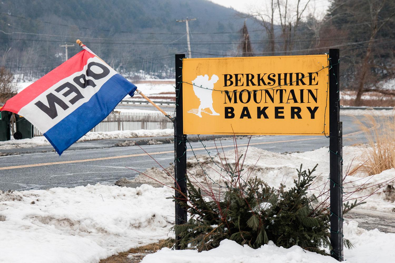 A Berkshire Mountain Bakery sign.