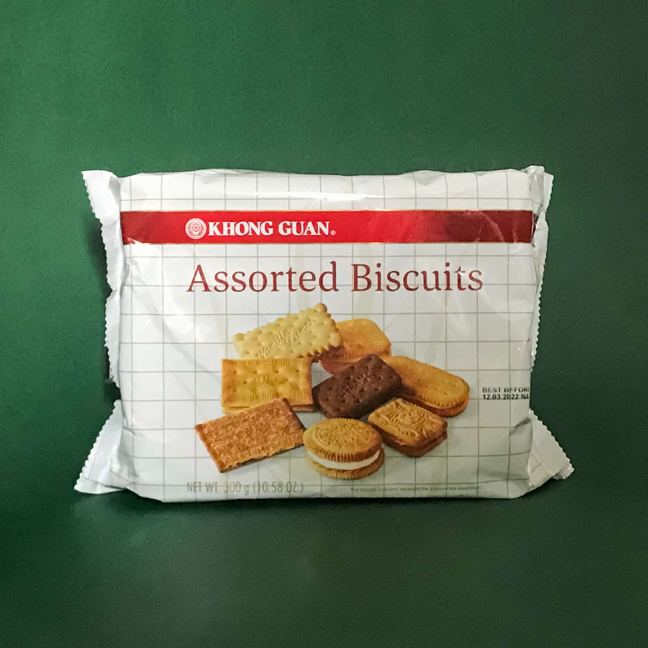 A package of Khong Guan Assorted Biscuits.