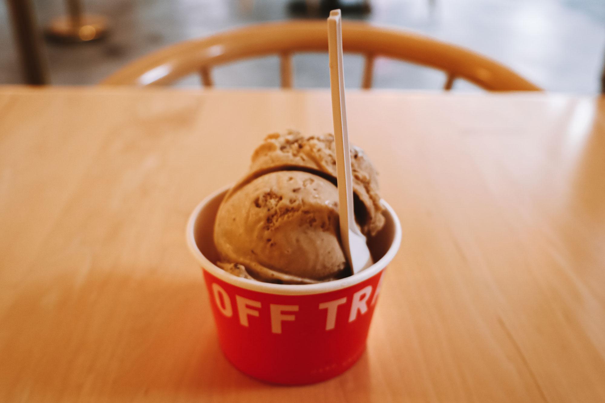 Ice cream from Off Track Ice Cream.