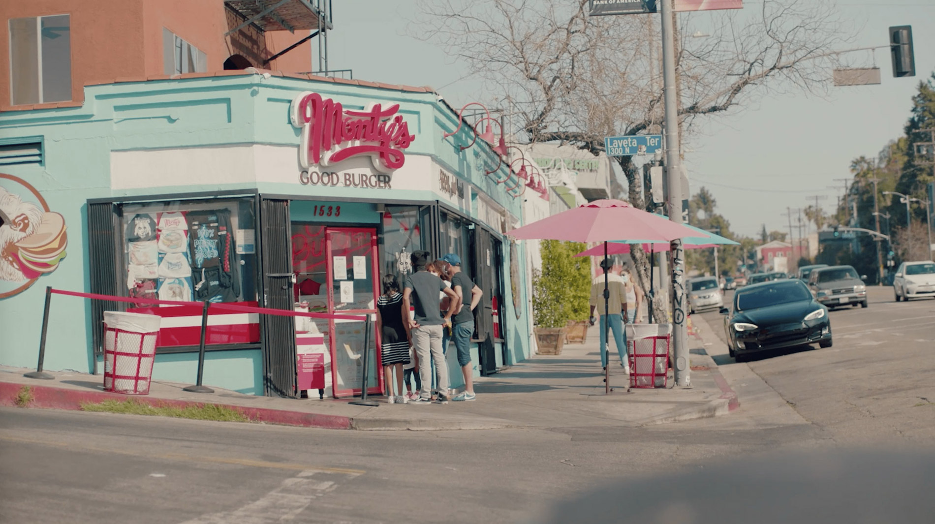 The front entrance of Monty's Good Burger.