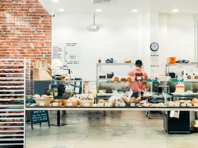 The interior of Clark Street Bakery.