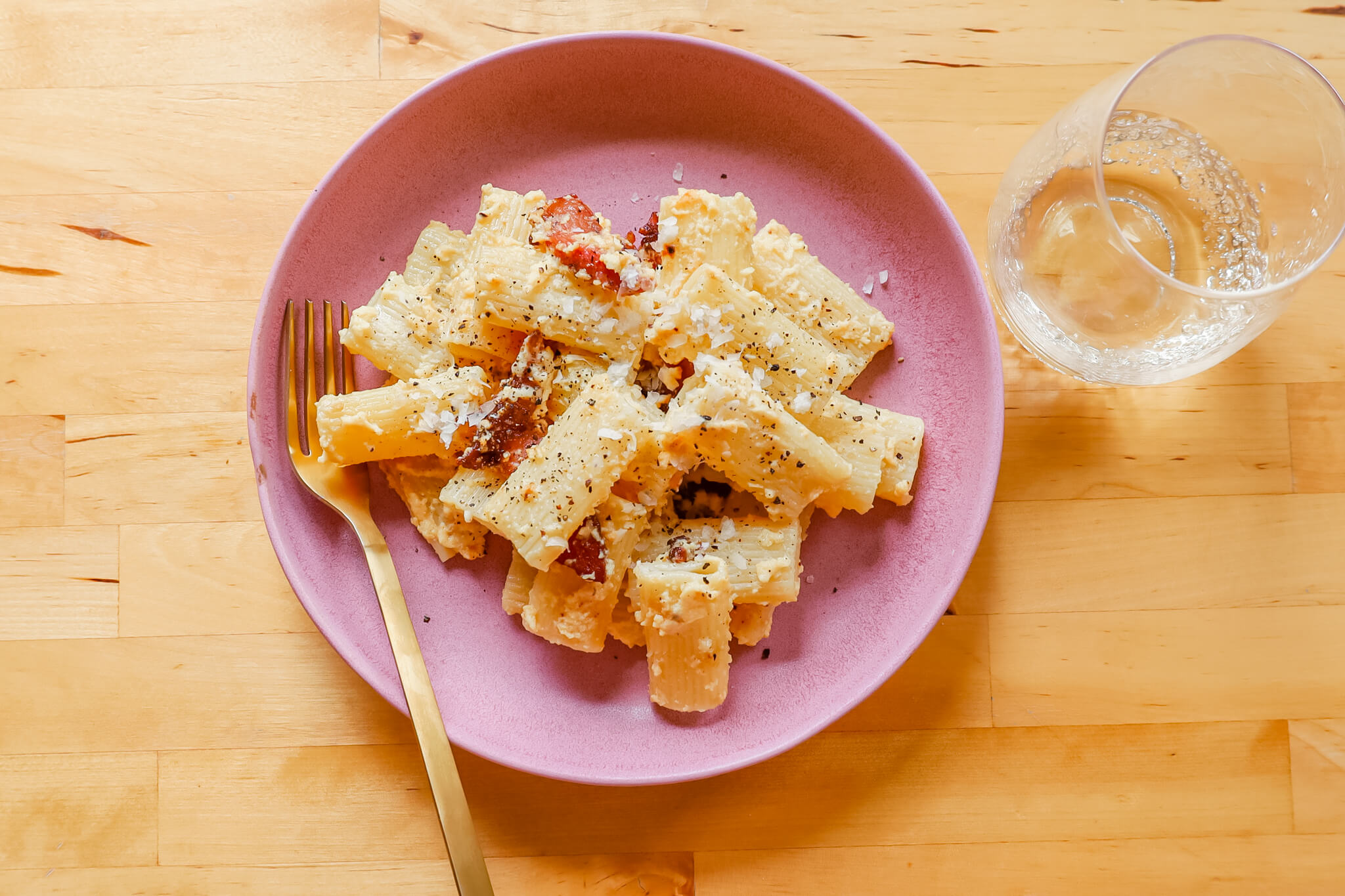 A plate of hearty pasta.