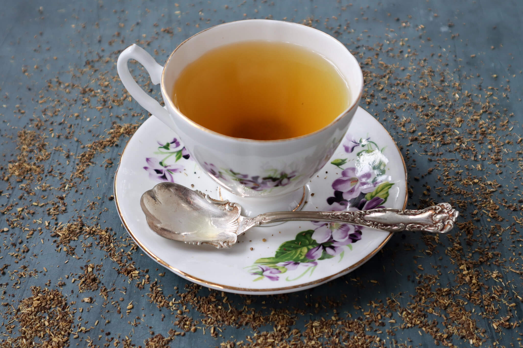 A cup of licorice tea.