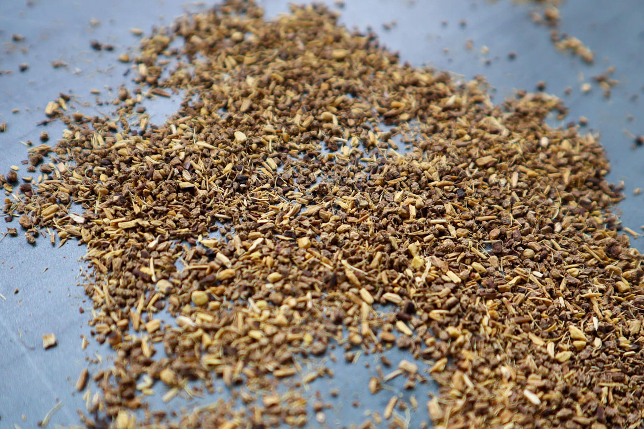Licorice root spread on a table.