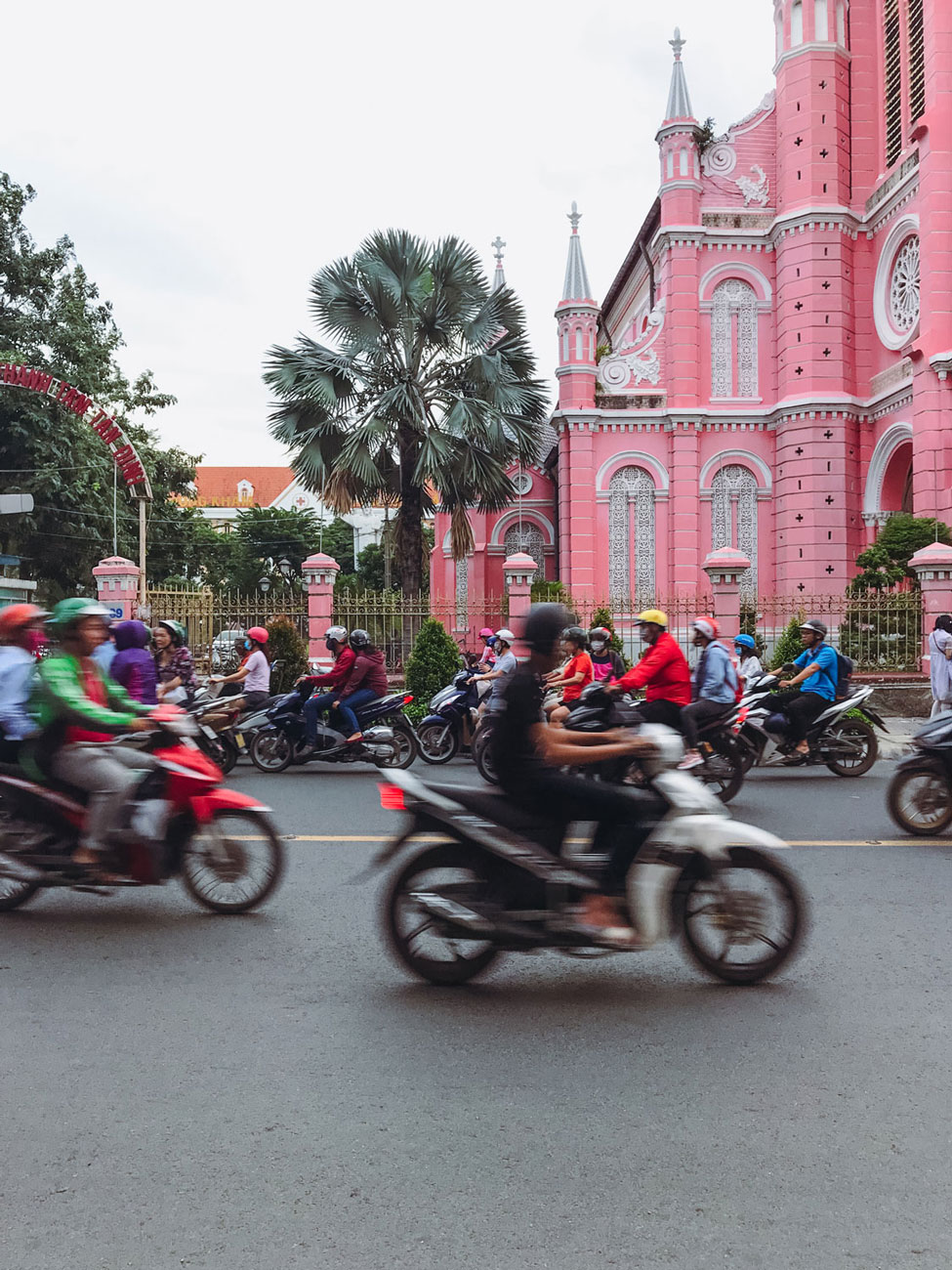 The hustle and bustle of the streets of Ho Chi Minh City.