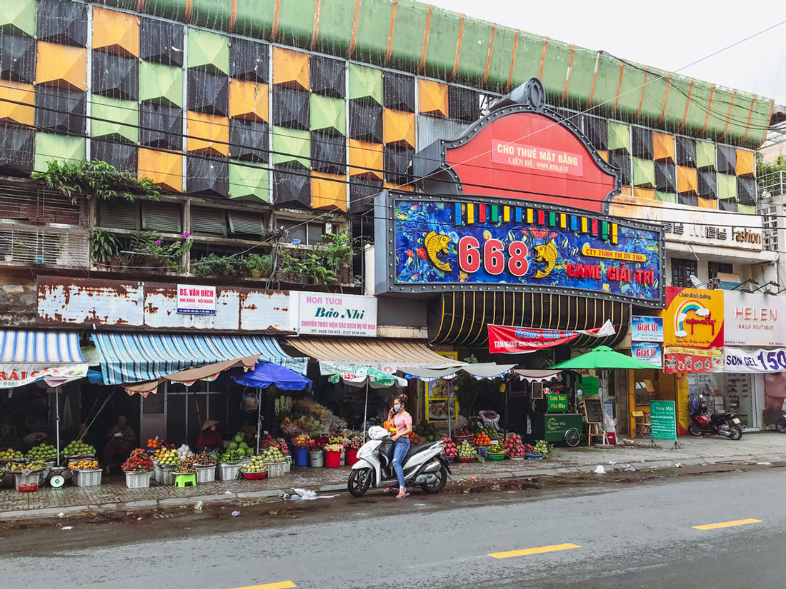 The food stalls of downtown Ho Chi Minh.
