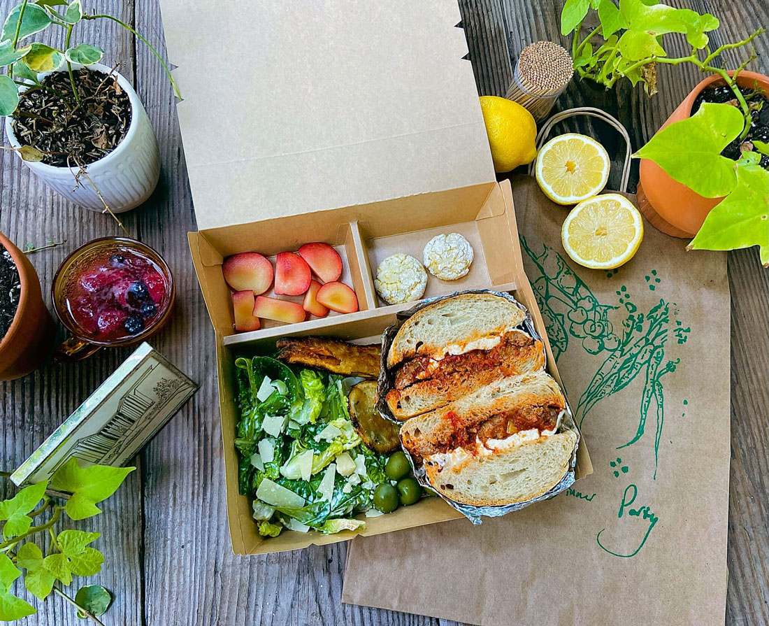 A sandwich picnic box from Dinner Party.