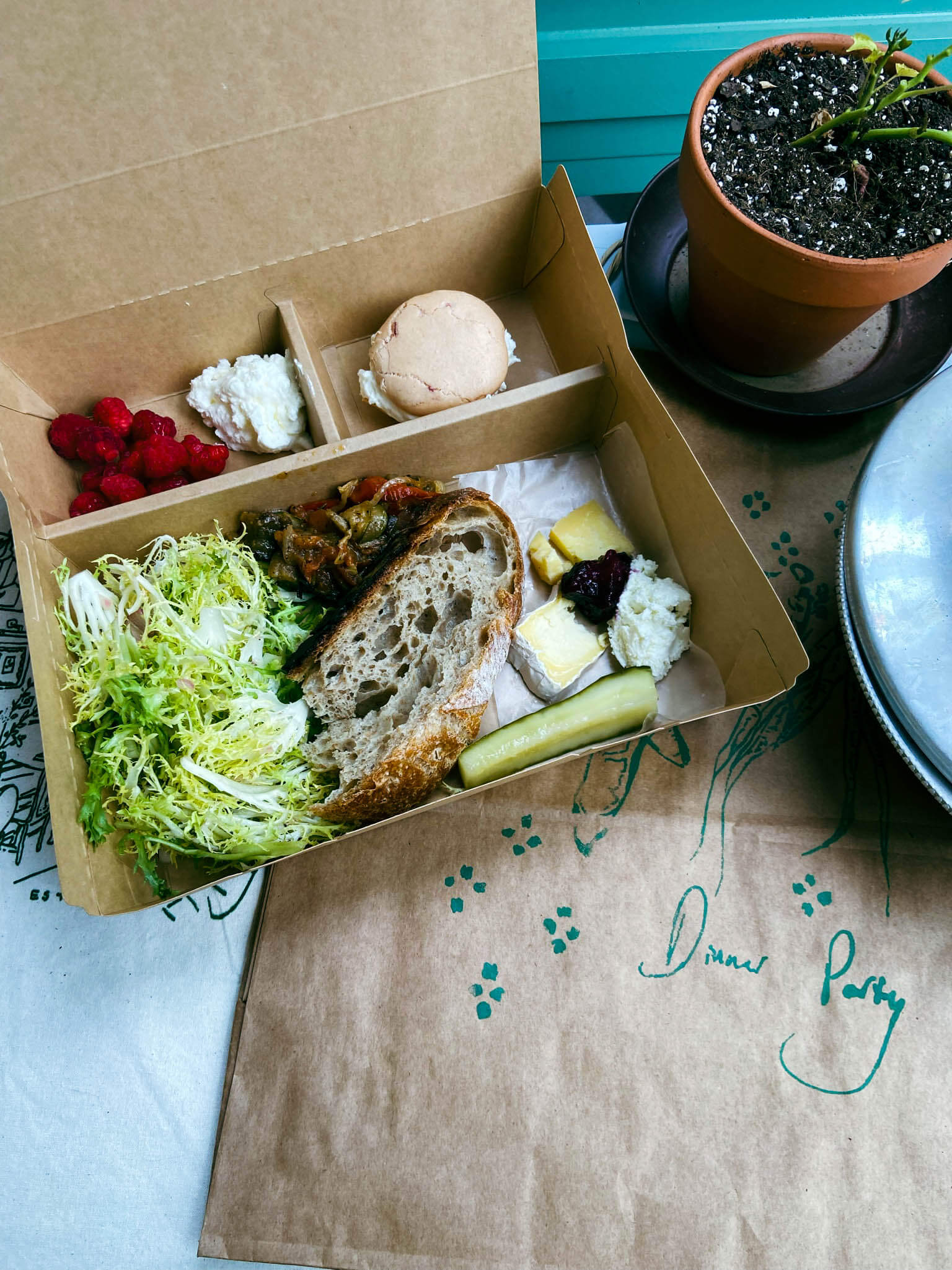 A salad picnic box from Dinner Party.