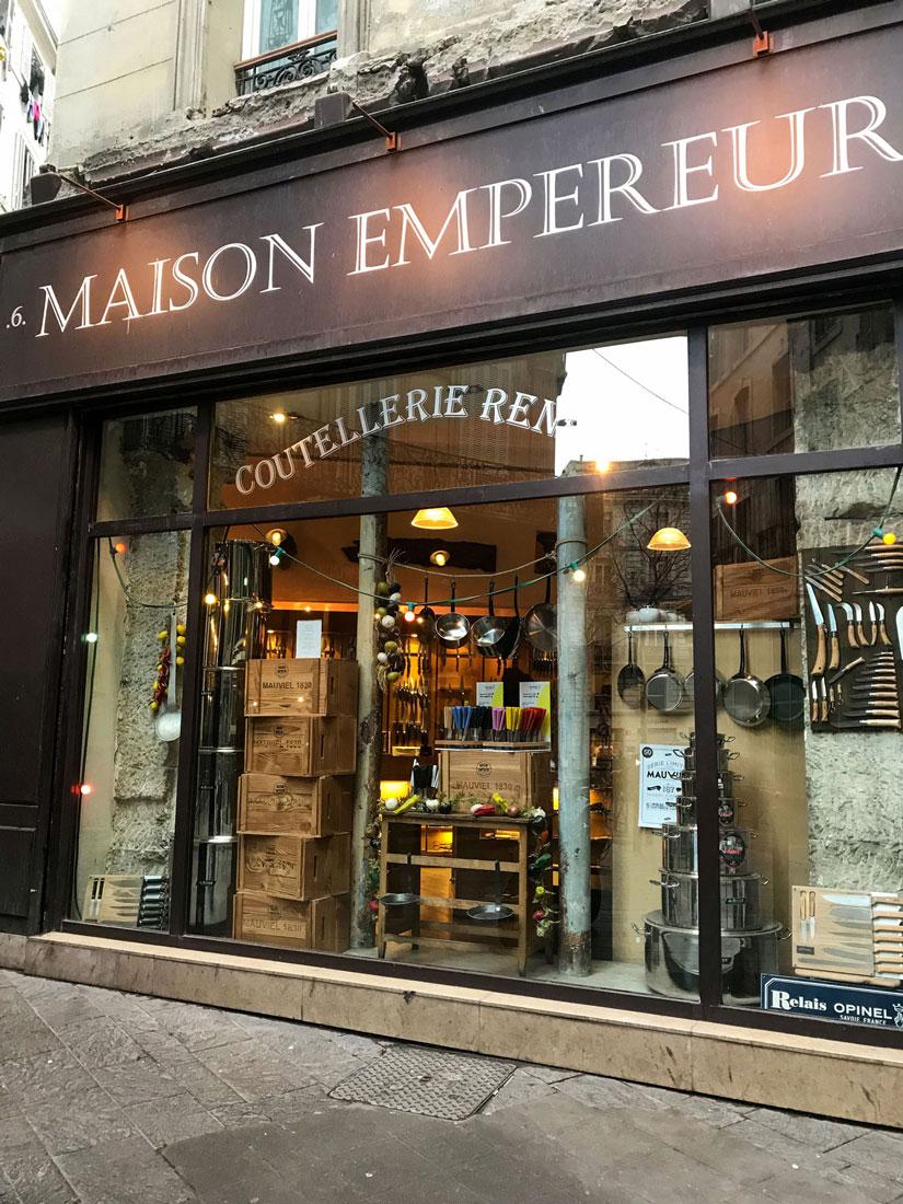 The exterior of Maison Empereur.