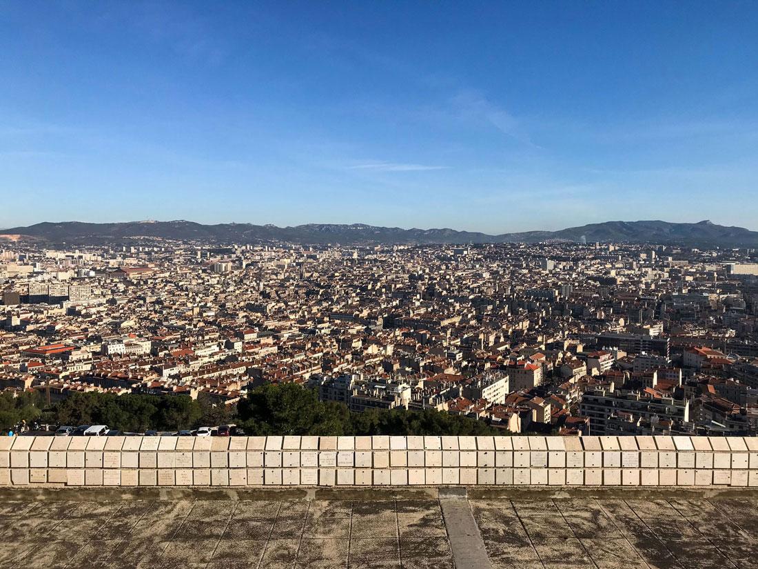 The beautiful cityscape of Marseille.