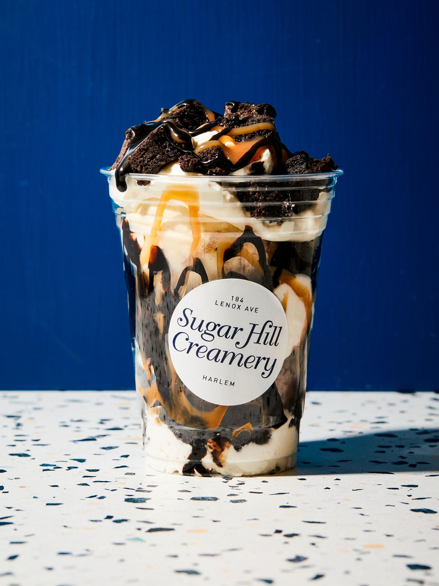 A sundae from Sugar Hill Creamery.